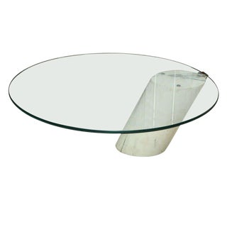 Marble and Glass Low Table Possibly by Brueton For Sale
