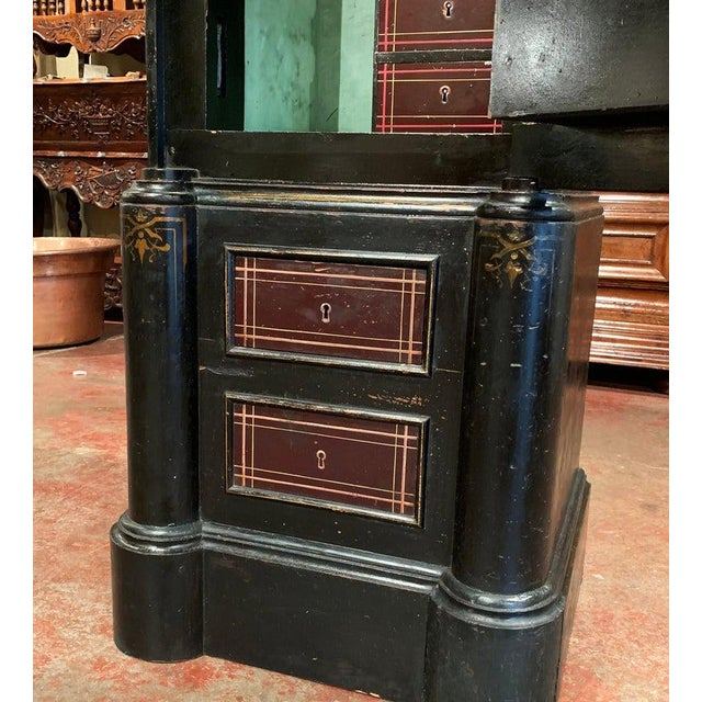 19th Century Spanish Hand Painted Iron Safe With Keys and Locking Combination For Sale - Image 10 of 11