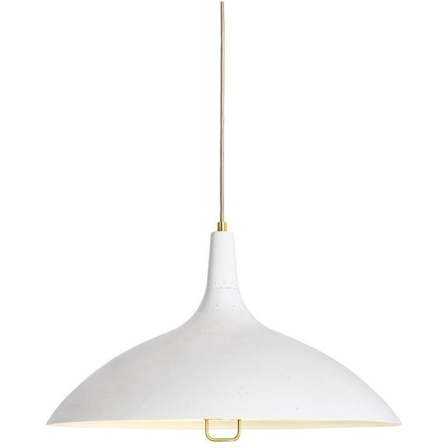 Metal Paavo Tynell '1965' Pendant Lamp in Red For Sale - Image 7 of 10