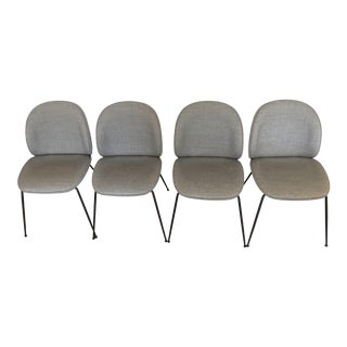 Gubi Beetle Gray Upholstered Dining Chairs - Set of 4