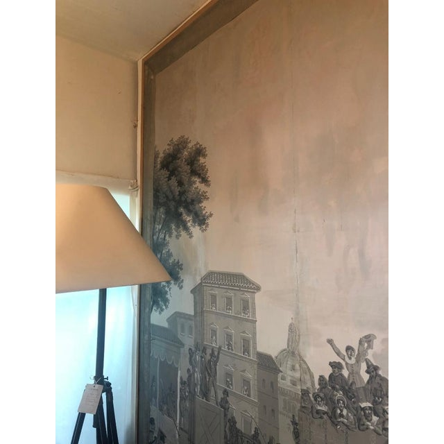 White Grisaille Panel Depicting Neapolitans Watching Horse Racing For Sale - Image 8 of 10