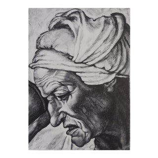 Pencil Study Old Master Portrait Painting For Sale