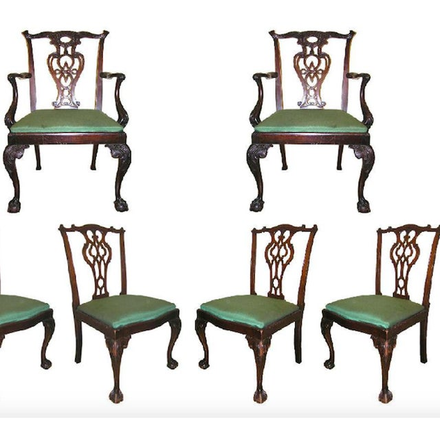 Antique George II Chippendale Revival Mahogany Dining Set