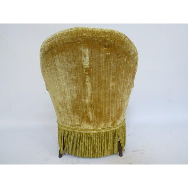1940's light Gold Slipper Chair - Image 4 of 6