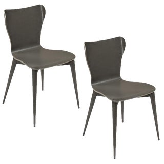 Sarried Ltd Contemporary Varentone Side Chairs - A Pair For Sale