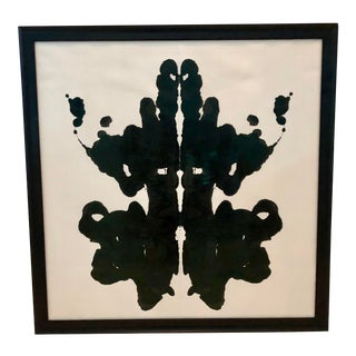 Framed Acrylic Ink Blot Painting For Sale