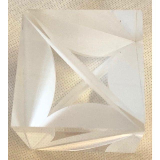 Alessio Tasca 1970s Italian Alessio Tasca Lucite Cube For Sale - Image 4 of 13