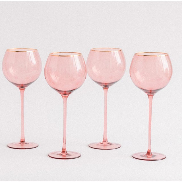 Siren Beverageware Pinot + Gold White Wine - Set of 4 For Sale - Image 4 of 4