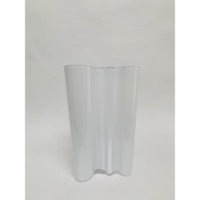 Glass Alvar and Aino Aalto for Iittala Finland Scandinavian Modern Savoy Glass Vase For Sale - Image 7 of 10