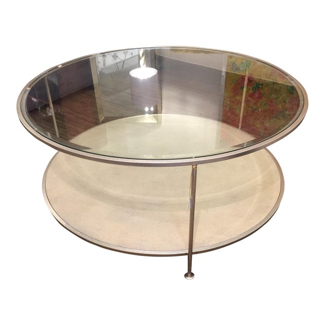 Century Furniture Shagreen Cocktail Table For Sale