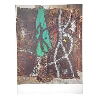 Vintage Mid 20th C. Quadrichrome Photographic Print-Derriere Le Miroir-Miro-Tapestry For Sale