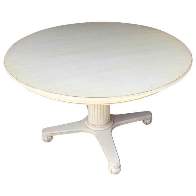 Ethan Allen Swedish Home Pedestal Dining Table - Image 1 of 9