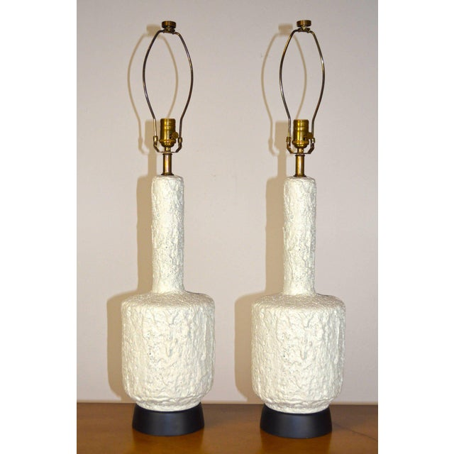 Gold Mid-Century Modern Plaster Lamp For Sale - Image 8 of 8