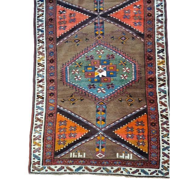 This wonderful Kurd runner is a great find. It has a beautiful color scheme of light and dark blue medallions on a lighter...