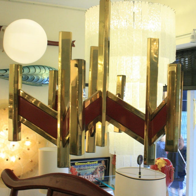 Italian Gaetano Sciolari Chandelier For Sale - Image 3 of 4