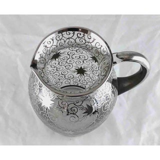 Mid 20th Century Mid Century Silver Overlay Star Pitcher With 6 Glasses - Saint Graal France - Set of 7 Preview