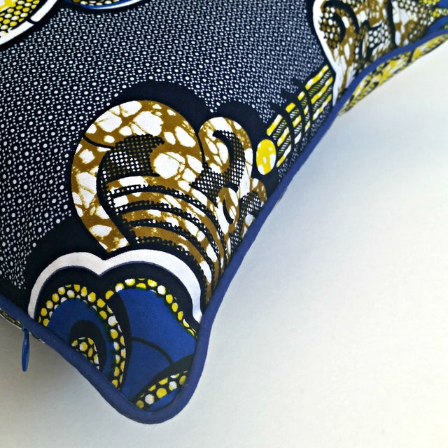 Sample Sale- Royalty African Print Pillows- a Pair - Image 3 of 4