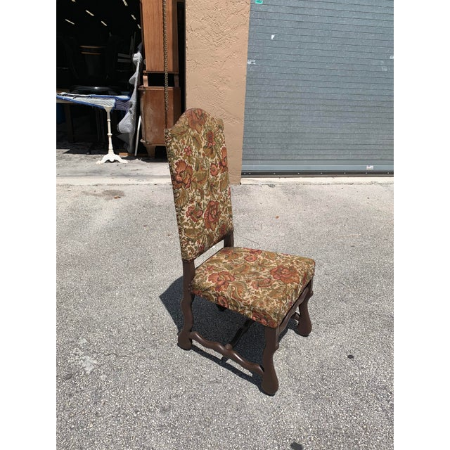 French 1900s Vintage French Louis XIII Style Os De Mouton Dining Chair For Sale - Image 3 of 13