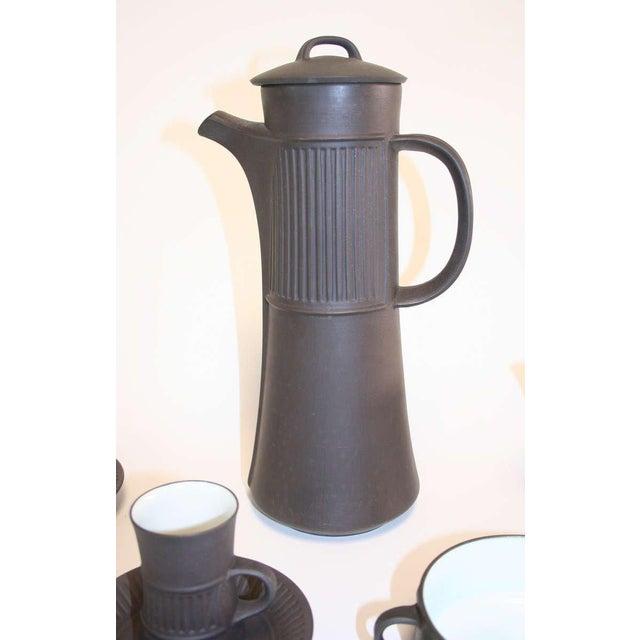 Løvig Design Dansk Flamestone Coffee Set by Jens Quistgaard - Set of 16 For Sale - Image 4 of 5