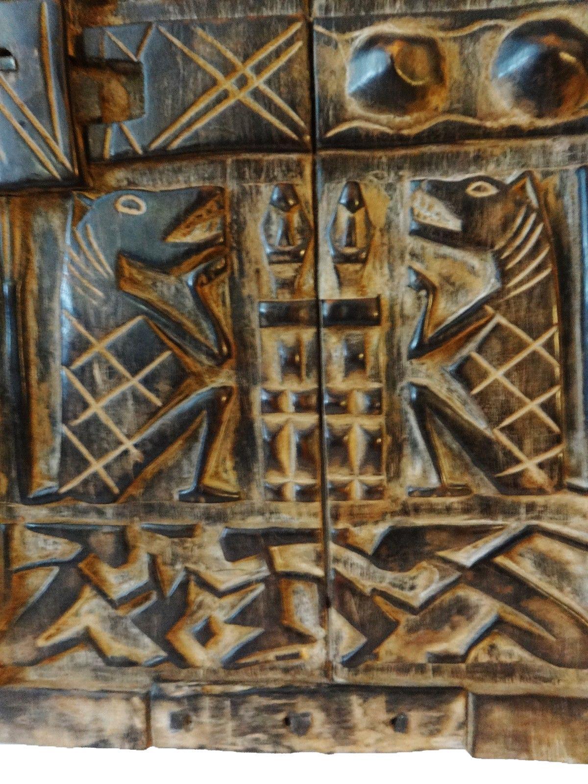 Mali African Dogon Door with Figures - Image 3 of 6  sc 1 st  Chairish & Mali African Dogon Door with Figures | Chairish