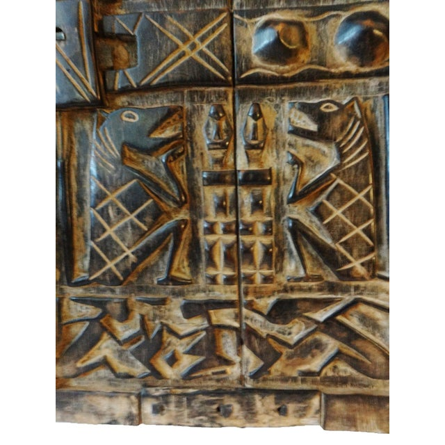 Mali African Dogon Door with Figures - Image 3 of 6