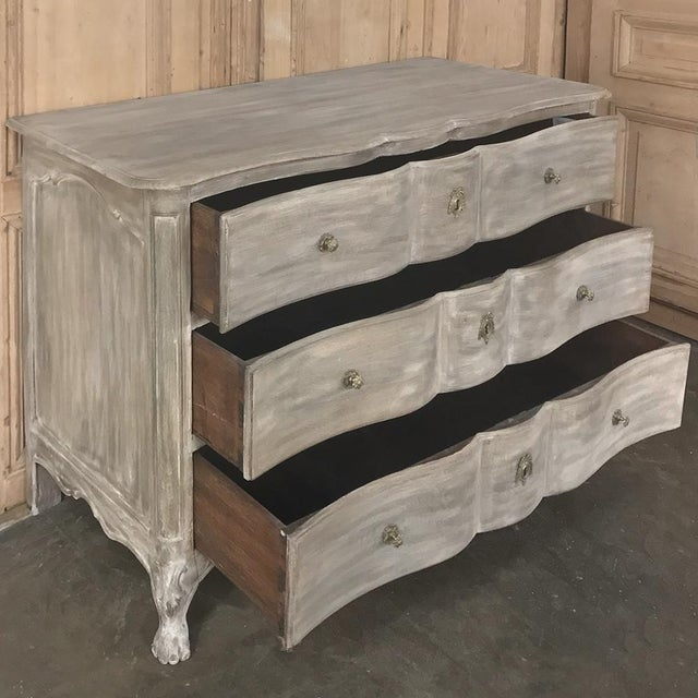 Metal 18th Century Country French Whitewashed Oak Commode For Sale - Image 7 of 13