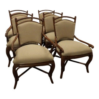 Palecek Upholstered Dining Chairs- Set of 6 For Sale