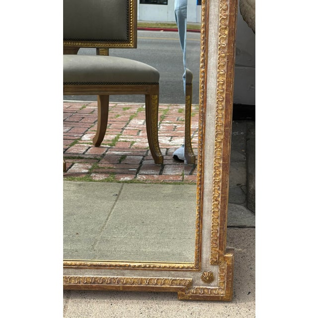 Neoclassical 18th C Style Quatrain for Dessin Fournir Giltwood Neoclassical Mirror For Sale - Image 3 of 7