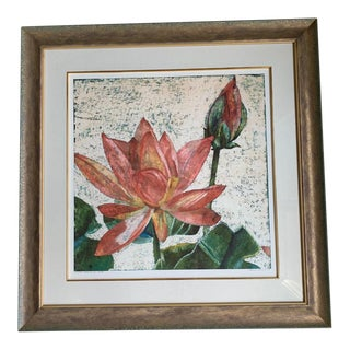 Red Water Flower II Print For Sale