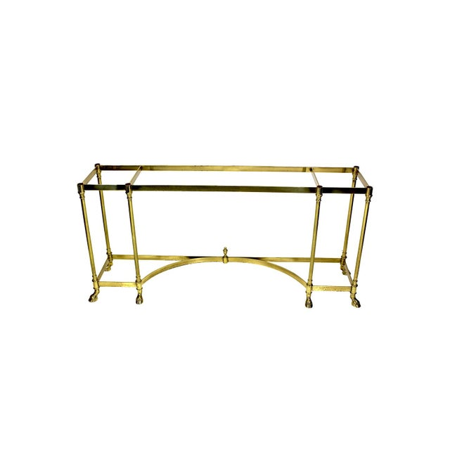 Gold Italian Brass Hoof Foot Console For Sale - Image 8 of 10