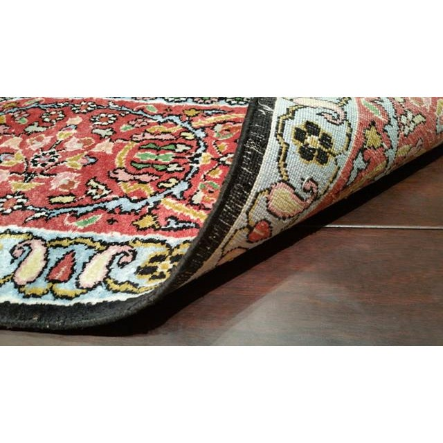 Traditional Handmade Knotted Rug - 10x14 For Sale - Image 4 of 4