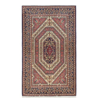 One-Of-A-Kind Persian Hand-Knotted Area Rug, Tuscan, 4' 3 X 7 For Sale