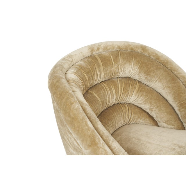"""Hollywood Regency Vladimir Kagan """"Crescent"""" Swivel Lounge Chairs - a Pair For Sale - Image 3 of 6"""