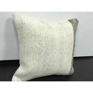 Turkish Organic White Decorative Kilim Pillow Preview