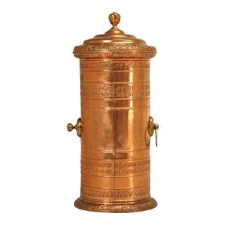 Antique Copper Coffee Roaster For Sale