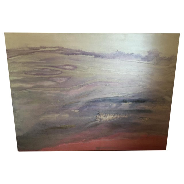 """Quartz"" Painting on Canvas by E. Maynard For Sale"