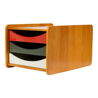 Oak Desk Organizer With Painted Drawers by Børge Mogensen for Karl Andersson For Sale