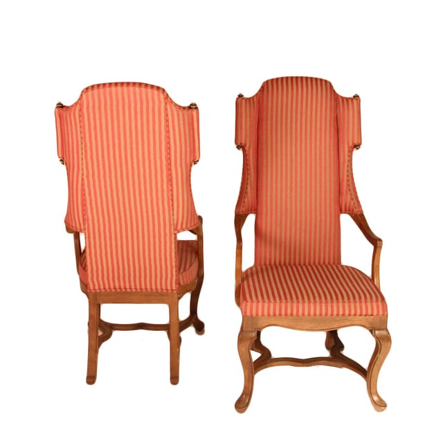 Drexel Wingback Arm Chairs - a Pair For Sale - Image 4 of 5