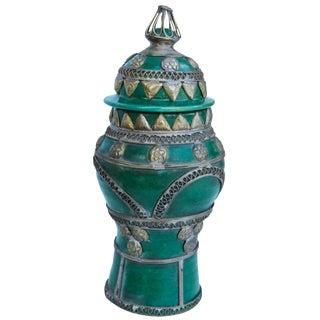 Moroccan Lidded Vase For Sale