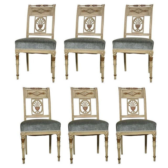 Hollywood Regency Side Chairs by Jansen - Set of 6 For Sale