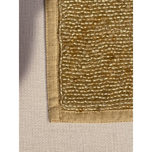 Glass Hand-Beaded Glass and Linen Placemats by Dranfield & Ross - Set of 8 For Sale - Image 7 of 11