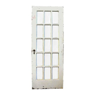 20th Century French Door With 15 Wavy Glass Lites