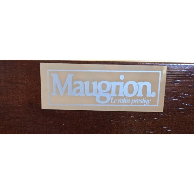 Mid Century Wicker Low Platform Bed by Maugrion Made in France for Roche Bobois For Sale - Image 9 of 10