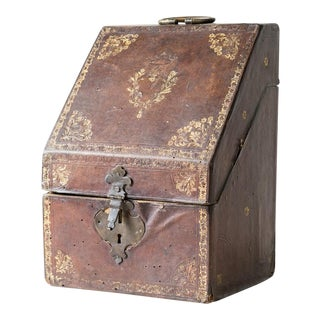 Early 19th Century Antique Leather Knife Box For Sale