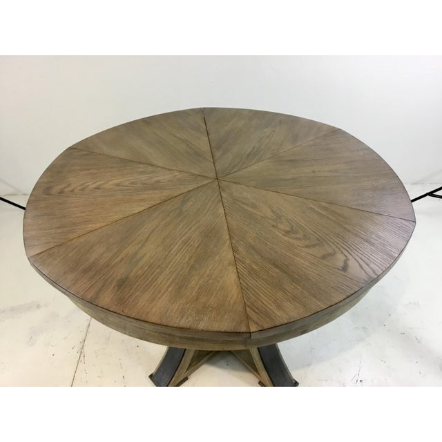 Sarreid Ltd. Sarreid Co. Modern Tower Jupe Extendable Gray Wood Dining Table For Sale - Image 4 of 6