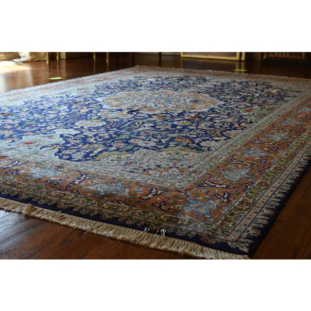 Vintage Signed Persian Tabriz Wool & Silk Rug - 6′5″ × 9′7″ For Sale - Image 11 of 11