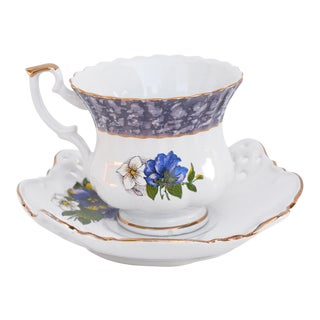 1990s Porcelain Cup and Saucer by Chodzież, Poland For Sale