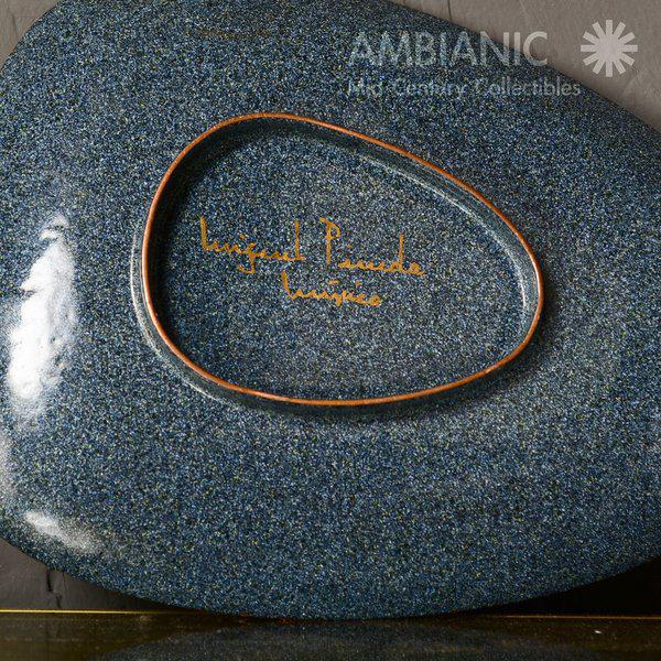 Miguel Pineda Enamel on Copper Oval Dish For Sale - Image 9 of 9