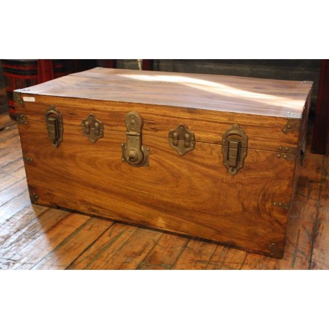 Antique Chinese Trunk Coffee Table - Image 2 of 6