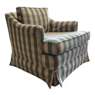 1950s Vintage Green Plaid Lounge Chair For Sale